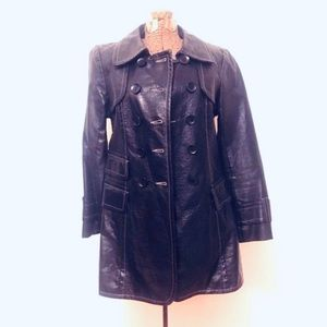 Nanette Lepore Black Patent Trench Coat